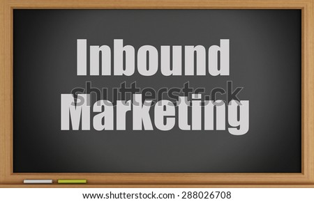 3d image. Inbound Marketing on blackboard background. Success business concept - stock photo