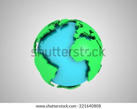 3D image of abstract globe. - stock photo