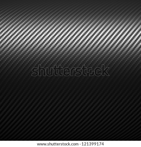 3d image of carbon fiber background - stock photo
