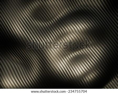 3d image of classic carbon fiber texture - stock photo
