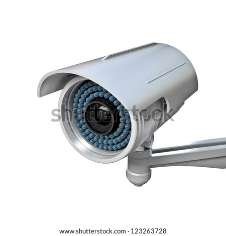 3d image of classic infrared cctv