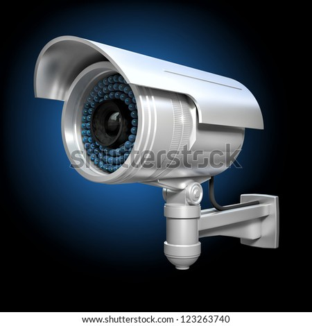3d image of classic infrared cctv - stock photo