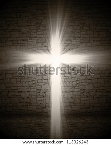 3d image of cross light