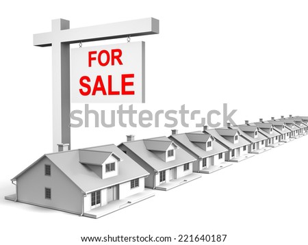 3D image of houses for sale.