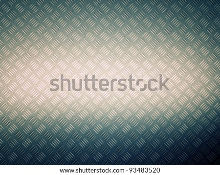 3d image of metal grunge plate - stock photo
