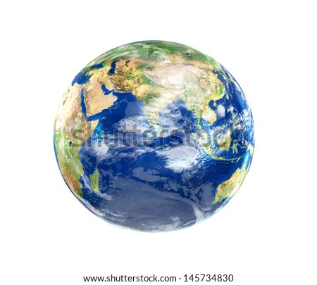 3D image of planet Earth. - stock photo