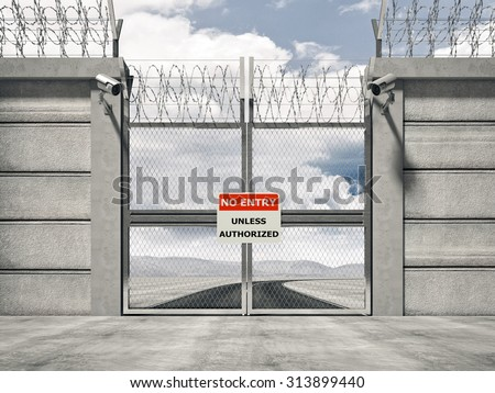 Security Gate Stock Photos Royalty Free Images Amp Vectors