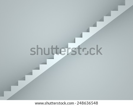 3D image of stairs representing achievment - stock photo