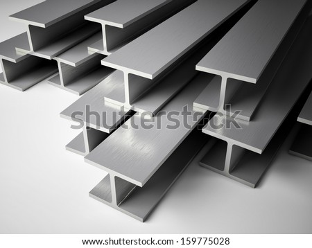 3d image of Structural steel - stock photo