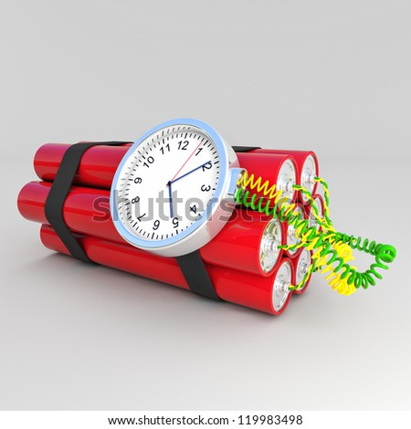 3d image of time bomb