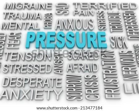 3d image Pressure concept word cloud background. Business concept - stock photo