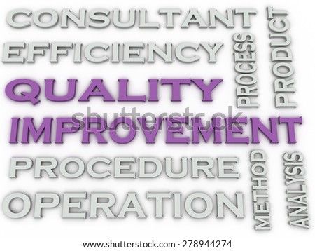 3d image Quality improvement   issues concept word cloud background - stock photo