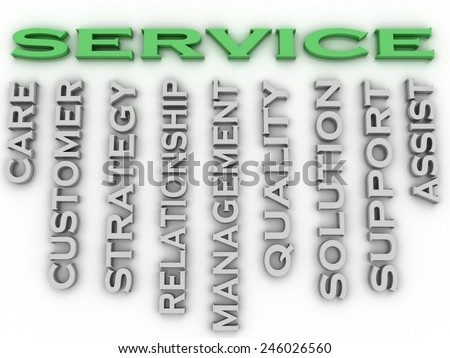 3d image Service issues concept word cloud background - stock photo