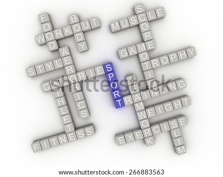 3d image Sport  issues concept word cloud background