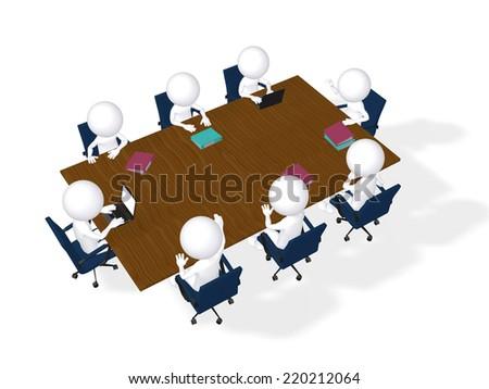 3d imagen Business meeting. Brainstorming concept - stock photo