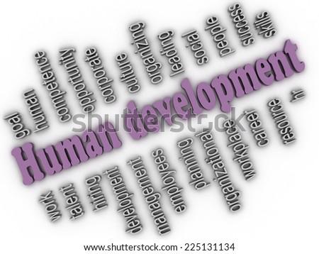 3d imagen Human development concept word cloud background - stock photo