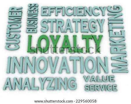 3d imagen Loyalty issues concept word cloud background - stock photo