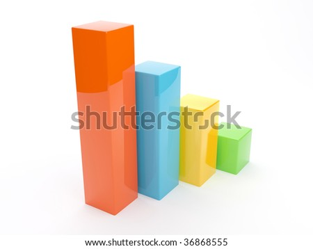 3d Increase Diagram - stock photo