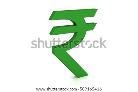 3 D Indian Rupee Symbol Isolated On Stock Illustration 509165416