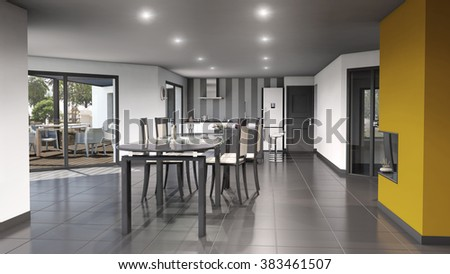 3d individual home interior