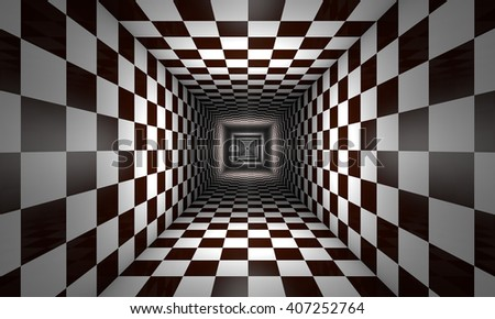 3d. Infinity. Chess tunnel. The space and time. Available in high-resolution and several sizes to fit the needs of your project.
