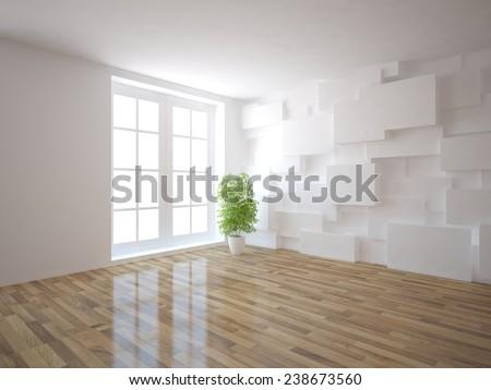 3d interior design - stock photo