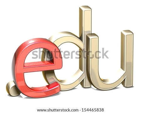 3D Internet Domain on white background  - stock photo