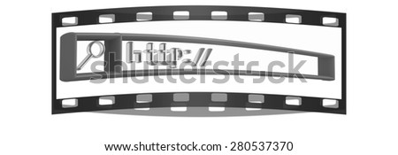 3d internet search string.Business and technology. The film strip - stock photo