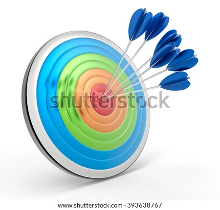 3D Isolated Bullseye Background. Success or Accuracy concept.