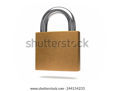 3D Isolated Security Padlock. Protection or safety concept.