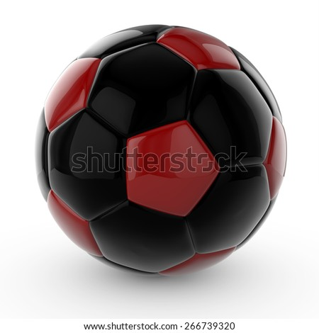 3d isolated soccer ball