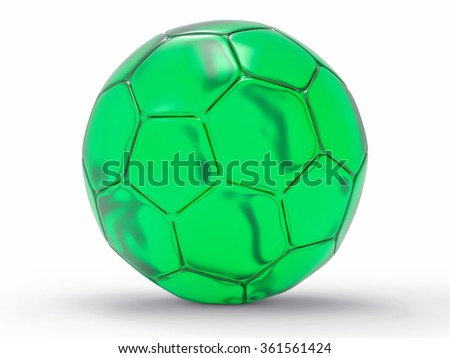 3D Isolated Soccer Ball Background. Trophy Concept. - stock photo