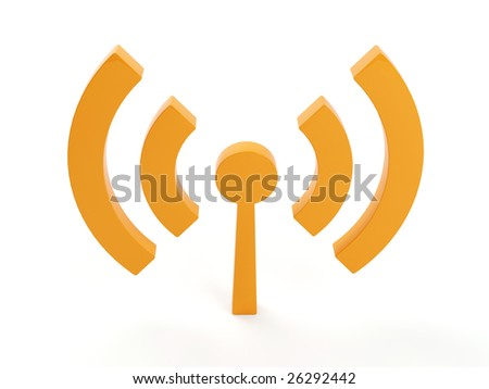 3d isolated wi fi (wireless) logo