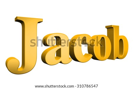 3D Jacop text on white background