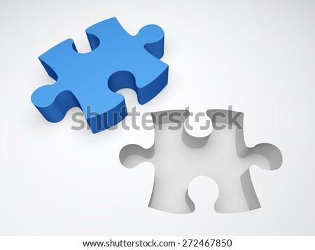3D Jigsaw Piece Puzzle
