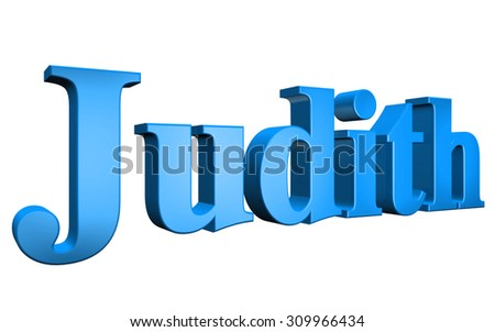 3D Judith text on white background