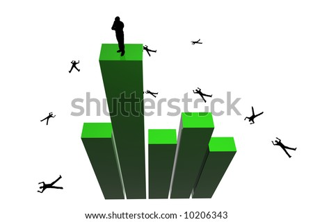 3d King Of The Hill - stock photo