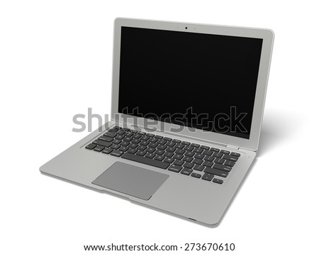 3D. Laptop, Computer, Computer Monitor. - stock photo