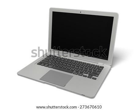 3D. Laptop, Computer, Computer Monitor. - stock photo