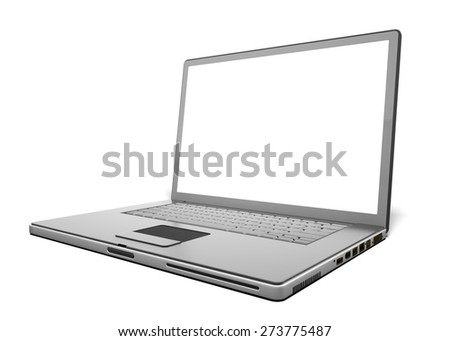 3D. Laptop, Computer, Computer Monitor.