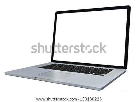 3d laptop isolated on white background