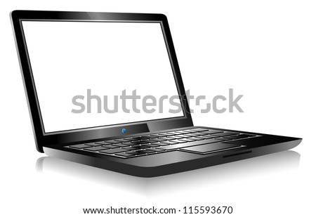 3D Laptop with space for your message - Raster Version