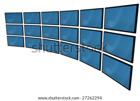 3d lcd monitors with blue screens