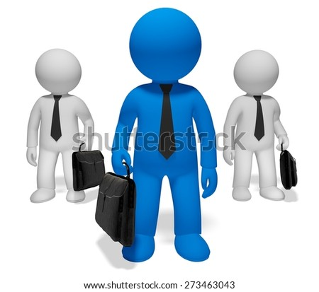 3D. Leadership, Manager, Standing Out From The Crowd.