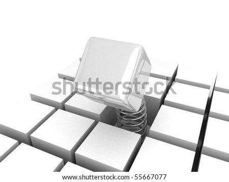 3d leading power cube for business - isolated - stock photo
