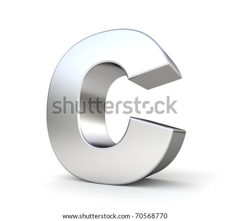 3d letter C from my metal letter collection