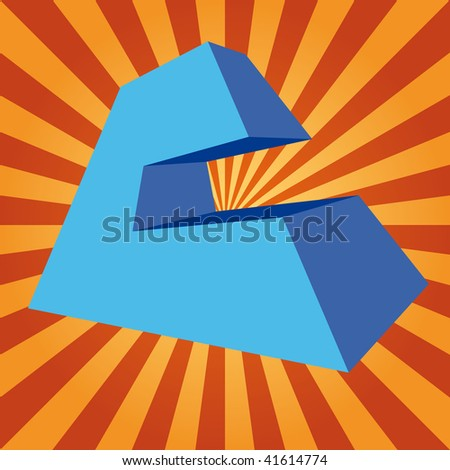 """3d letter """"C"""" on disco background - stock photo"""