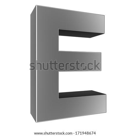e Letter Logo 3d 3d Letter Collection e