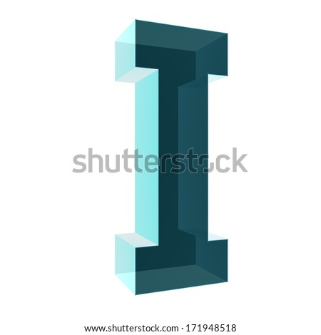 3d letter collection - I