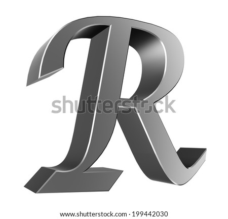 3d letter collection - R